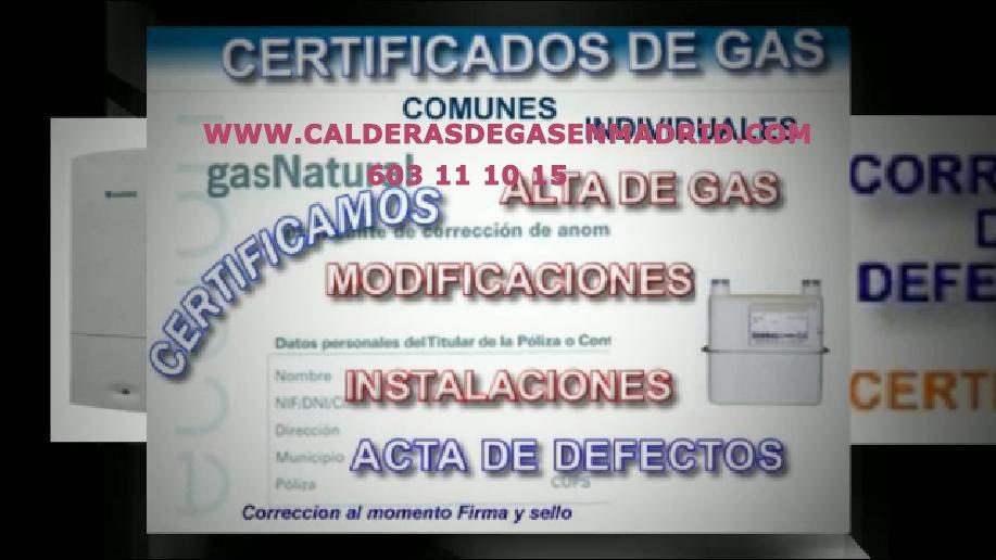certificados de gas