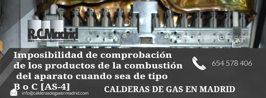 Imposibilidad de comprobación de los productos de la combustión del aparato cuando sea de tipo B o C [AS-4]
